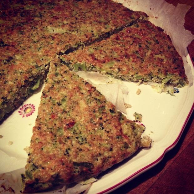 torta salata di quinoa e broccoletti